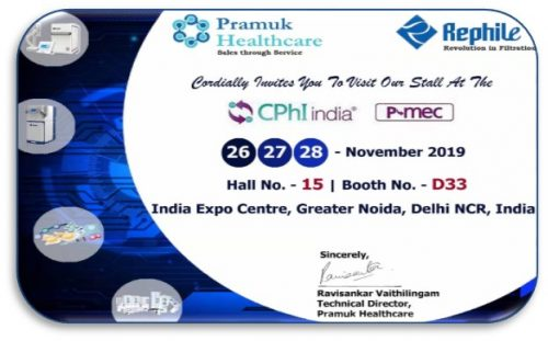 Follow Pramuk to see RephiLe at CPhI India 2019
