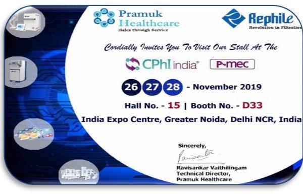 Follow Pramuk to see RephiLe at CPhI India 2019