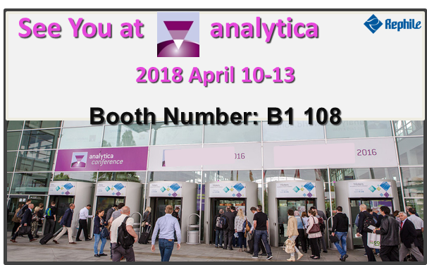 RephiLe at Munich analytica 2018, Booth B1-108
