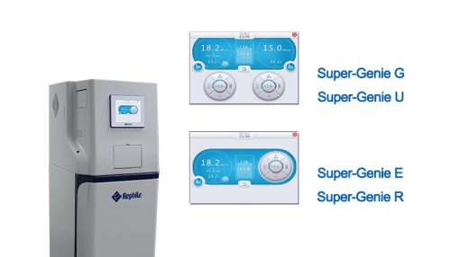 Super-Genie water systems touch screen